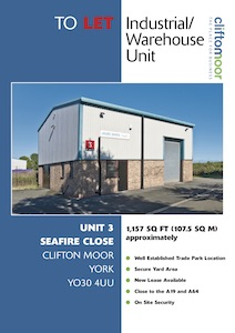 Unit 3, Seafire Close, Clifton Moor, York, YO30 4UU