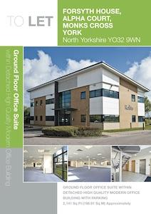 Part Ground Floor, Forsyth House, Alpha Court, Monks Cross, York, YO32 9WN