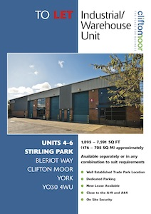 Units 4-6 Stirling Park, Bleriot Way, Clifton Moor, York, YO30 4WU