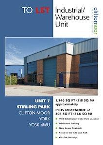 Unit 7, Stirling Park, Clifton Moor, York, YO30 4WU