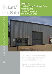 Unit 4, London Ebor Business Park, Millfield Lane, Nether Poppleton, York, YO26 6QY