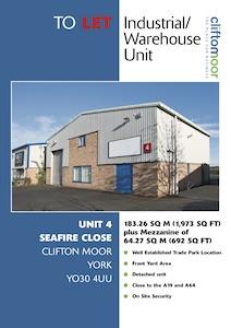 Unit 4, Seafire Close, Clifton Moor, York, YO30 4UU
