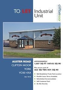 Unit H, Auster Road, Kettlestring Lane, Clifton Moor, York, YO30 4XA